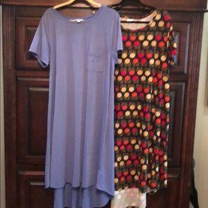 2 Lularoe Carly dresses.  2XL.